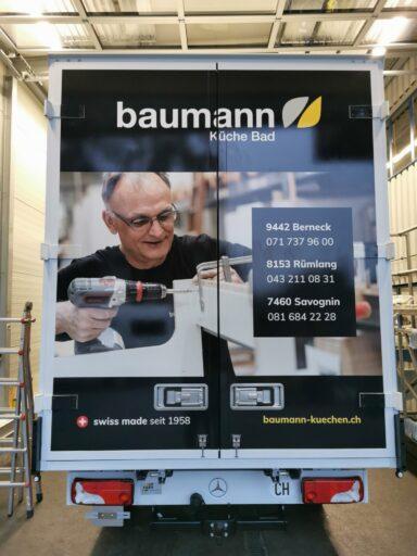 Unsere Lieferwagen Baumann AG Küche & Bad